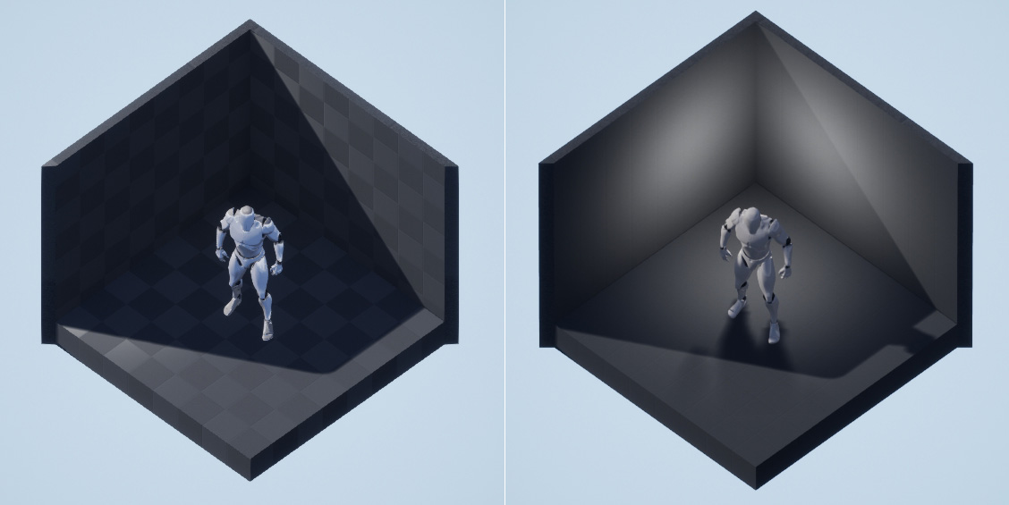 unreal engine true orthographic vs faked with perspective orthographic